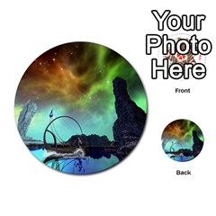Fantasy Landscape With Lamp Boat And Awesome Sky Multi-purpose Cards (Round)