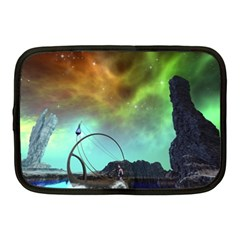 Fantasy Landscape With Lamp Boat And Awesome Sky Netbook Case (Medium)
