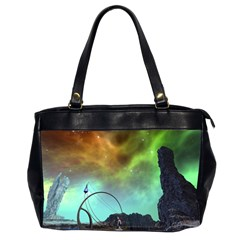 Fantasy Landscape With Lamp Boat And Awesome Sky Office Handbags (2 Sides)