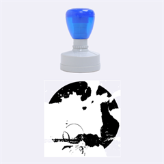 Fantasy Landscape With Lamp Boat And Awesome Sky Rubber Round Stamps (Medium)