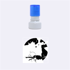 Fantasy Landscape With Lamp Boat And Awesome Sky Rubber Round Stamps (Small)