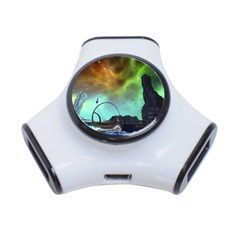 Fantasy Landscape With Lamp Boat And Awesome Sky 3-Port USB Hub