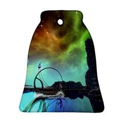 Fantasy Landscape With Lamp Boat And Awesome Sky Bell Ornament (2 Sides)