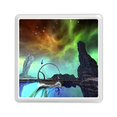 Fantasy Landscape With Lamp Boat And Awesome Sky Memory Card Reader (Square)