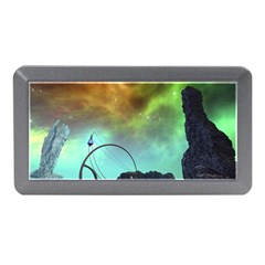 Fantasy Landscape With Lamp Boat And Awesome Sky Memory Card Reader (Mini)