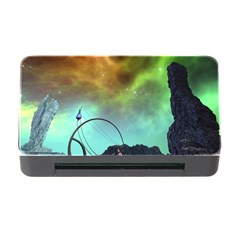 Fantasy Landscape With Lamp Boat And Awesome Sky Memory Card Reader with CF