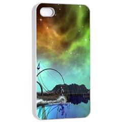 Fantasy Landscape With Lamp Boat And Awesome Sky Apple iPhone 4/4s Seamless Case (White)