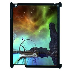 Fantasy Landscape With Lamp Boat And Awesome Sky Apple iPad 2 Case (Black)
