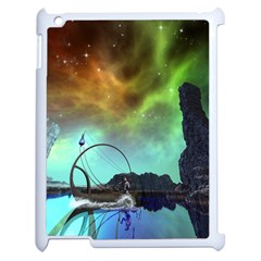 Fantasy Landscape With Lamp Boat And Awesome Sky Apple iPad 2 Case (White)