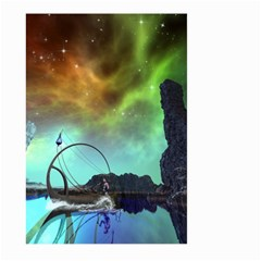 Fantasy Landscape With Lamp Boat And Awesome Sky Large Garden Flag (Two Sides)