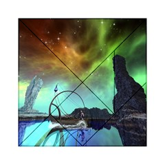 Fantasy Landscape With Lamp Boat And Awesome Sky Acrylic Tangram Puzzle (6  X 6 )