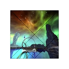 Fantasy Landscape With Lamp Boat And Awesome Sky Acrylic Tangram Puzzle (4  x 4 )