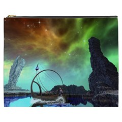 Fantasy Landscape With Lamp Boat And Awesome Sky Cosmetic Bag (XXXL)