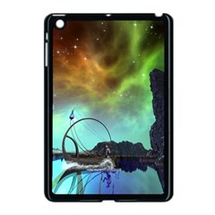Fantasy Landscape With Lamp Boat And Awesome Sky Apple iPad Mini Case (Black)