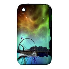 Fantasy Landscape With Lamp Boat And Awesome Sky Apple iPhone 3G/3GS Hardshell Case (PC+Silicone)