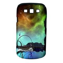 Fantasy Landscape With Lamp Boat And Awesome Sky Samsung Galaxy S III Classic Hardshell Case (PC+Silicone)