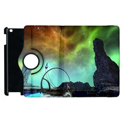 Fantasy Landscape With Lamp Boat And Awesome Sky Apple iPad 2 Flip 360 Case