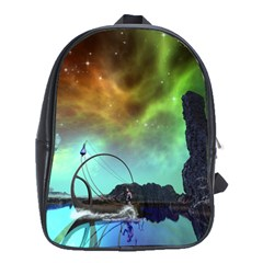 Fantasy Landscape With Lamp Boat And Awesome Sky School Bags (XL)