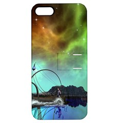 Fantasy Landscape With Lamp Boat And Awesome Sky Apple iPhone 5 Hardshell Case with Stand