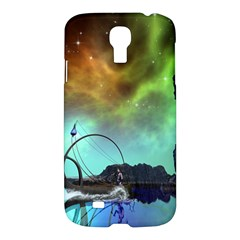 Fantasy Landscape With Lamp Boat And Awesome Sky Samsung Galaxy S4 I9500/I9505 Hardshell Case