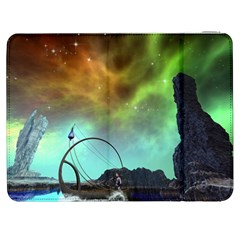 Fantasy Landscape With Lamp Boat And Awesome Sky Samsung Galaxy Tab 7  P1000 Flip Case