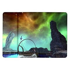 Fantasy Landscape With Lamp Boat And Awesome Sky Samsung Galaxy Tab 10.1  P7500 Flip Case