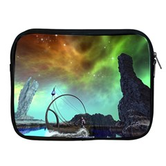 Fantasy Landscape With Lamp Boat And Awesome Sky Apple iPad 2/3/4 Zipper Cases