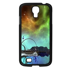 Fantasy Landscape With Lamp Boat And Awesome Sky Samsung Galaxy S4 I9500/ I9505 Case (Black)