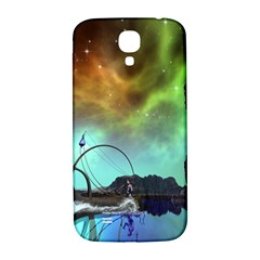 Fantasy Landscape With Lamp Boat And Awesome Sky Samsung Galaxy S4 I9500/I9505  Hardshell Back Case
