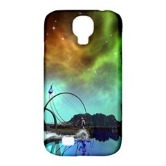 Fantasy Landscape With Lamp Boat And Awesome Sky Samsung Galaxy S4 Classic Hardshell Case (PC+Silicone)