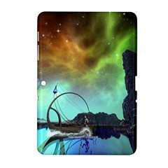 Fantasy Landscape With Lamp Boat And Awesome Sky Samsung Galaxy Tab 2 (10.1 ) P5100 Hardshell Case