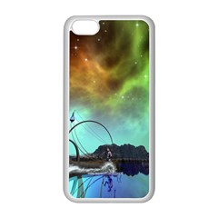 Fantasy Landscape With Lamp Boat And Awesome Sky Apple iPhone 5C Seamless Case (White)