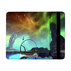 Fantasy Landscape With Lamp Boat And Awesome Sky Samsung Galaxy Tab Pro 8.4  Flip Case