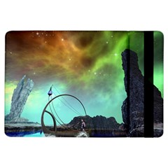 Fantasy Landscape With Lamp Boat And Awesome Sky Ipad Air Flip
