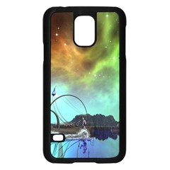 Fantasy Landscape With Lamp Boat And Awesome Sky Samsung Galaxy S5 Case (Black)