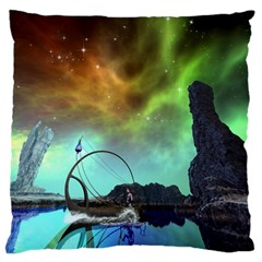 Fantasy Landscape With Lamp Boat And Awesome Sky Standard Flano Cushion Cases (Two Sides)