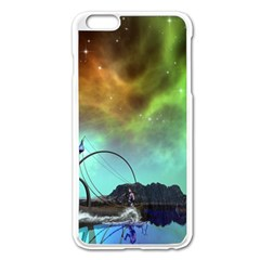 Fantasy Landscape With Lamp Boat And Awesome Sky Apple iPhone 6 Plus/6S Plus Enamel White Case