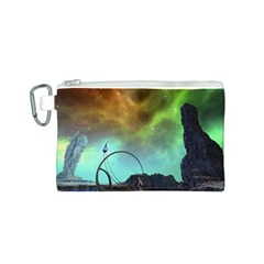 Fantasy Landscape With Lamp Boat And Awesome Sky Canvas Cosmetic Bag (S)