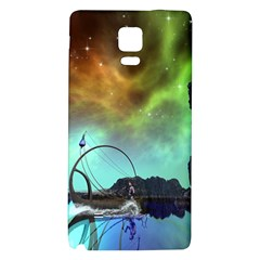 Fantasy Landscape With Lamp Boat And Awesome Sky Galaxy Note 4 Back Case