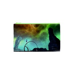 Fantasy Landscape With Lamp Boat And Awesome Sky Cosmetic Bag (XS)