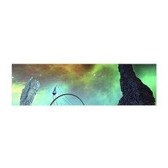 Fantasy Landscape With Lamp Boat And Awesome Sky Satin Scarf (oblong)