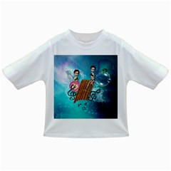 Music, Pan Flute With Fairy Infant/Toddler T-Shirts