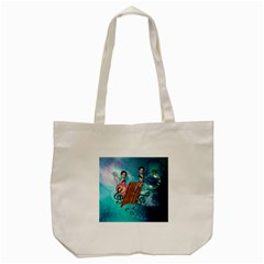 Music, Pan Flute With Fairy Tote Bag (Cream)