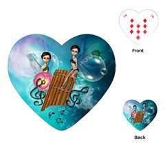 Music, Pan Flute With Fairy Playing Cards (Heart)