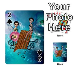 Music, Pan Flute With Fairy Playing Cards 54 Designs