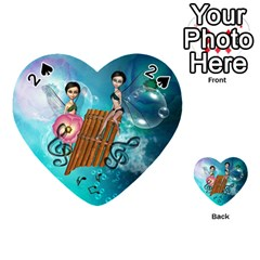 Music, Pan Flute With Fairy Playing Cards 54 (Heart)