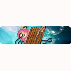 Music, Pan Flute With Fairy Large Bar Mats