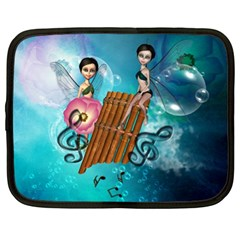 Music, Pan Flute With Fairy Netbook Case (XL)