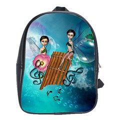 Music, Pan Flute With Fairy School Bags(Large)