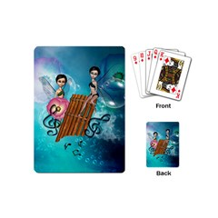 Music, Pan Flute With Fairy Playing Cards (Mini)